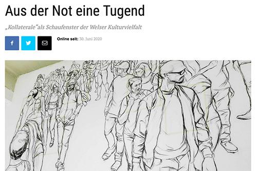Kollaterale im oö. Volksblatt